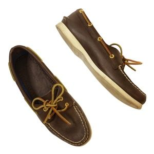 SPERRY Brown Leather Boat Shoes